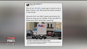 FedEx delivery robot visits NYC