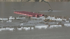 Boys fall through thin ice on pond in Queens