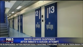 4 Rikers guards suspended after inmate attempted suicide
