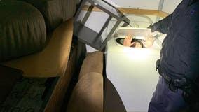 11 Chinese migrants found hidden inside furniture