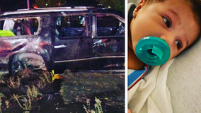 CHP: Newborn ejected from SUV in rollover accident was found safe in car seat carrier