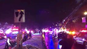 Upstate NY first responders give holiday light show at children's hospital