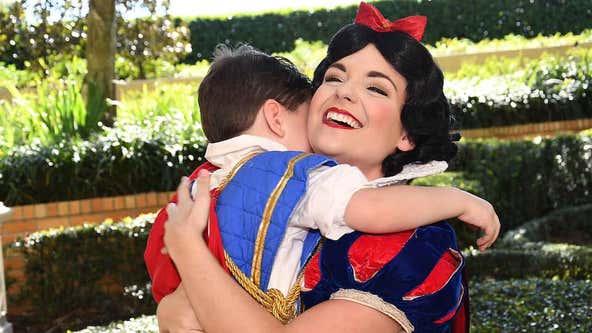 Heartfelt moment between Disney princess and boy with autism