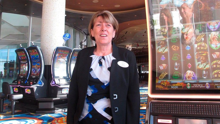 Ocean Casino Resort CEO Terry Glebocki on the casino floor
