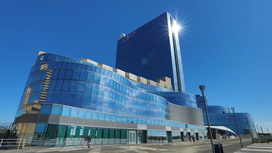 A exterior view of Ocean Casino Resort from the boardwalk in Atlantic City, N.J.