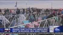 Crowds gather ahead of Trump rally