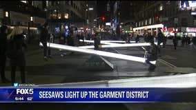 Seesaws light up the Garment District