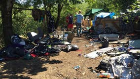 Portland spending millions to clean up homeless camps