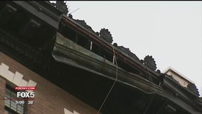 Gusty winds cause debris to fall from multiple buildings across NYC