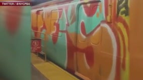 Subway graffiti makes a bit of a comeback