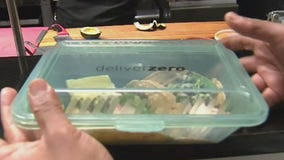 Restaurants reduce waste by delivering food in reusable containers