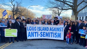 Thousands march on Long Island against anti-Semitism