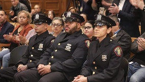 Jersey City officers promoted for heroism during shootings