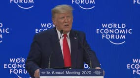 President Trump tells business leaders of 'spectacular' US economy at World Economic Forum