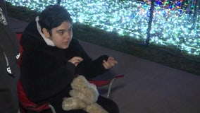 Christmas lights display inspires girl with autism to speak, sing and dance