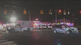 4-car crash involves gunshot victim being raced to hospital
