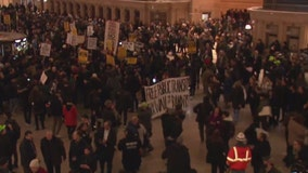 Anti-police protesters demand 'cop-free' NYC subways