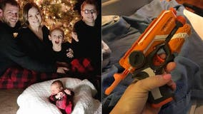 Pregnant mom brings Nerf gun to hospital to keep husband awake: 'Mom hack level 10,000'