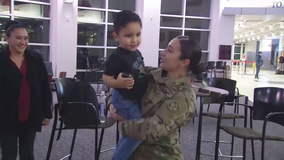 Soldier gets welcome home surprise from her 3-year-old son