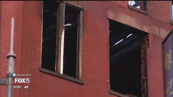 Cleanup begins after 5-alarm fire rips through historic building in Chinatown