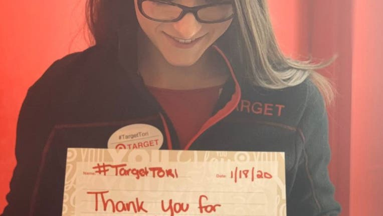 A GoFundMe set up for Tori Perrotti raised more than $30,000 after a Target customer tried to shame the store manager her over her refusal to sell him a mistakenly-priced toothbrush. (GoFundMe)