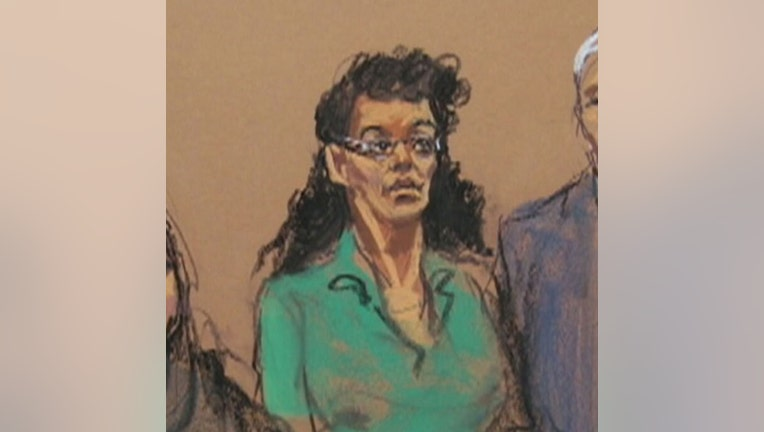 Courtroom sketch of Asia Siddiqui
