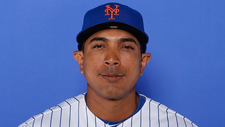 Luis Rojas of the New York Mets in uniform