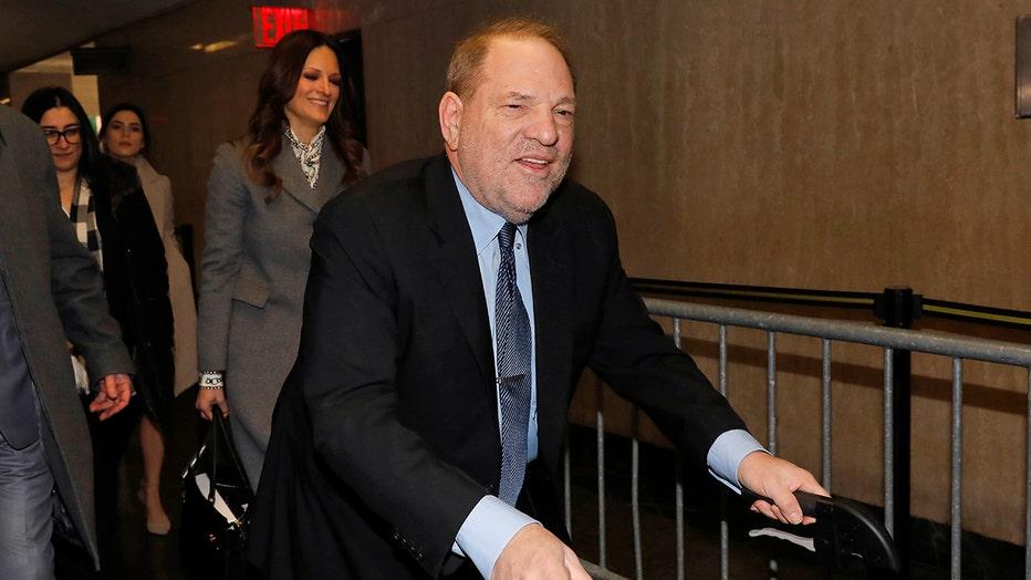 Harvey Weinstein arrives at court