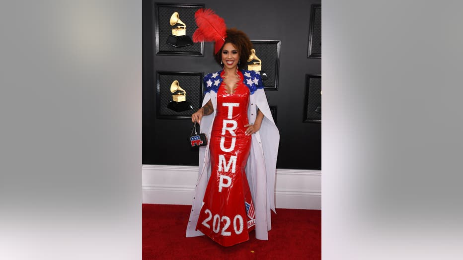US singer Joy Villa arrives for the 62nd Annual Grammy Awards on January 26, 2020, in Los Angeles. (Photo by VALERIE MACON / AFP) (Photo by VALERIE MACON/AFP via Getty Images)