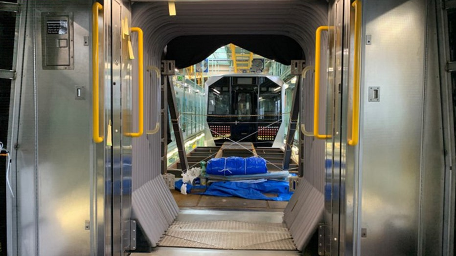 An interior look at the R211 subway car