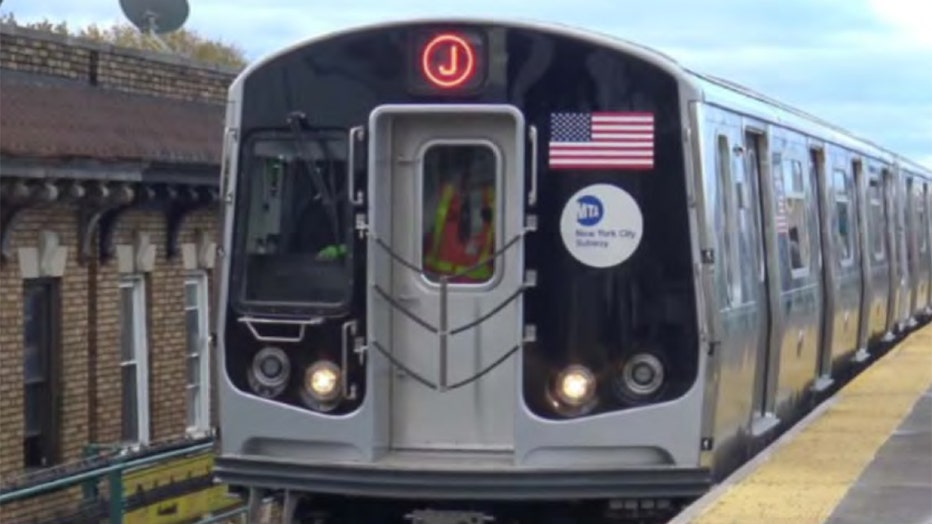 R179 subway cars operating on the J line.