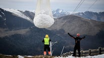 Ski resort in France uses helicopters to deliver snow, angering environmental groups