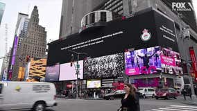 Australian firefighters thank American crews in Times Square ad
