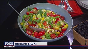 Lady lima succotash salad with fresh mint