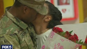 Soldier home early from deployment surprises daughter on Valentine's Day