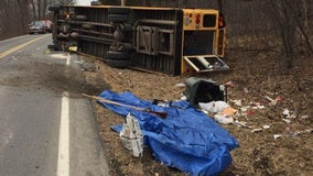 Several students hurt in upstate bus crash