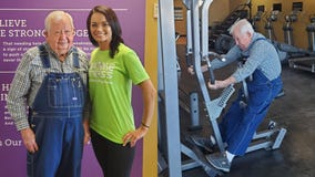 91-year-old who works out 3 times a week in his overalls at the gym inspires others to 'get started'