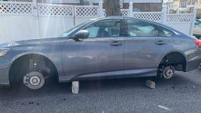 Car wheels being stolen across New York City