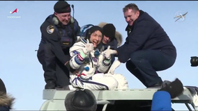 Record-breaking astronaut returns to Earth after 328 days in space