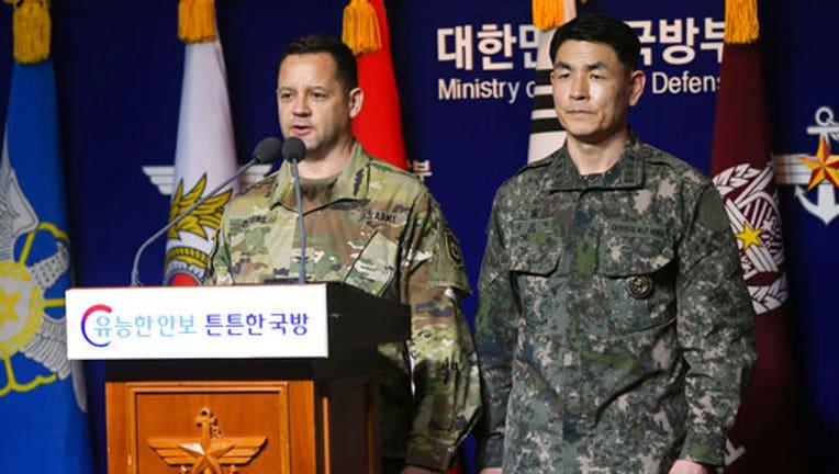 Virus Outbreak US South Korea Military