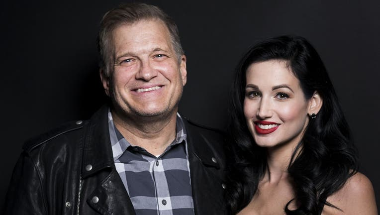 Dr. Amie Harwick, seen here with Drew Carey in December 2017, was murdered in Los Angeles over the weekend, police said. (Michael Bezjian/WireImage, File)