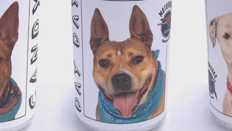 Through sheer luck, Mathis says she spotted Hazel's face on the side of a beer can featured in a Facebook ad for the brewery.