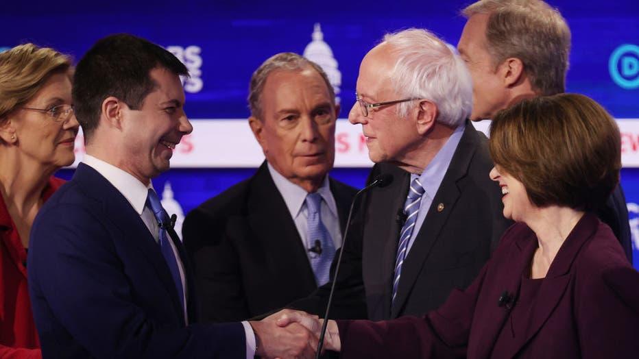 4233b77f-Democratic Presidential Candidates Debate In Charleston Ahead Of SC Primary