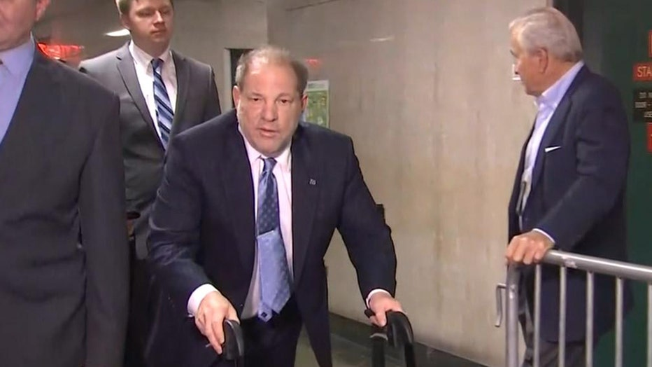 Harvey Weinstein arrives in court in Manhattan, Feb. 6, 2020.