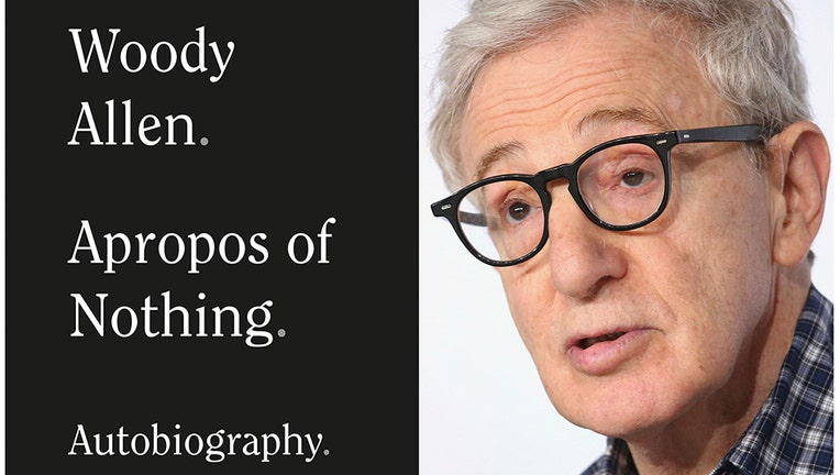 The cover of Woody Allen's book and a headshot of Woody Allen