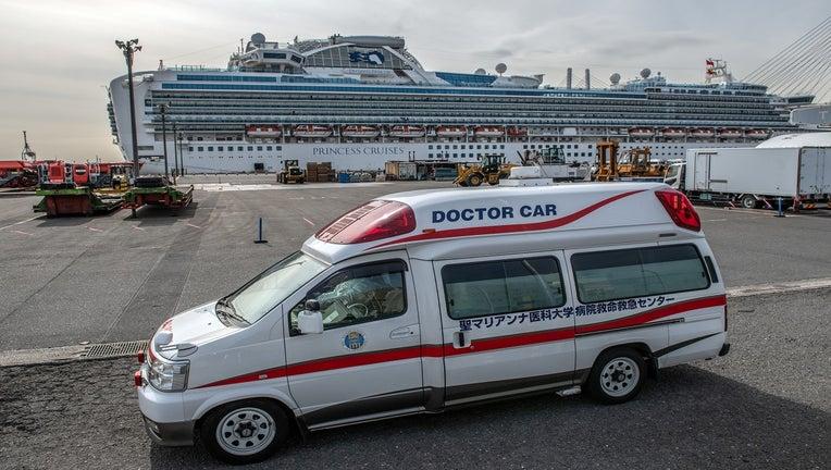 cd8dea74-Japan Screens Cruise Ship Diamond Princess For The Wuhan Coronavirus