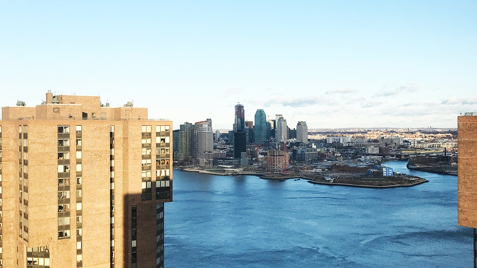 The skyline of Long Island City, Queens, seen from Manhattan