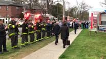 FDNY firefighters applaud healthcare workers across NYC