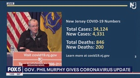 NJ reports 200 more virus deaths, topping state's 9/11 toll