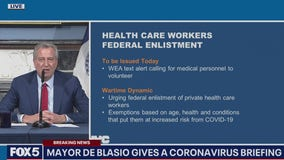 De Blasio wants a military medical draft to fight the war on coronavirus